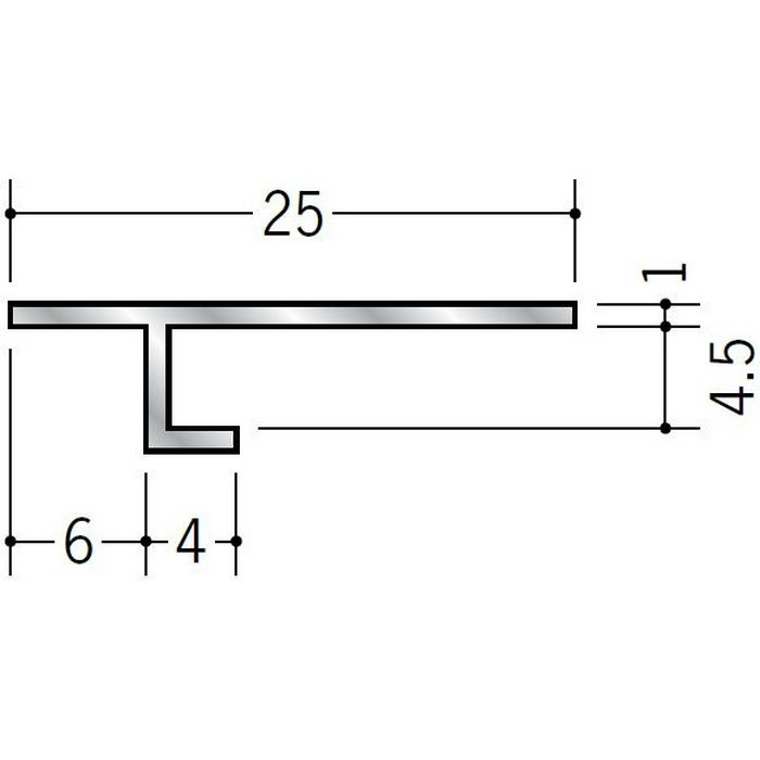 目透かし型見切縁 アルミ ATV-604 シルバー 3m  50046