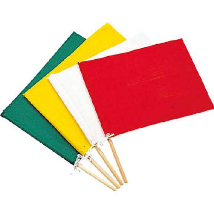 245002 手旗 緑 300(450)×420mm 布+木製棒