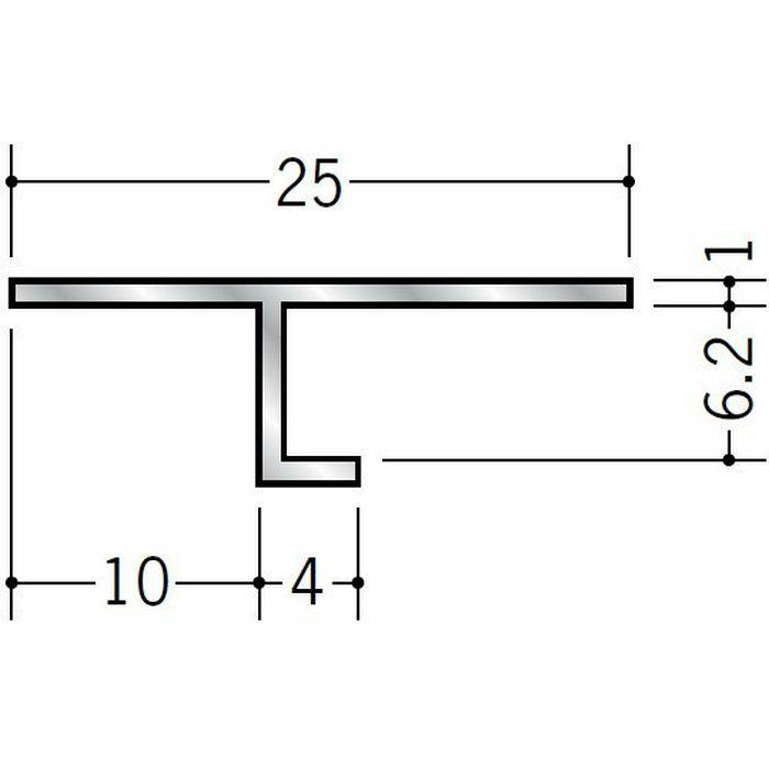目透かし型見切縁 アルミ ATV-6 シルバー 3m  50060