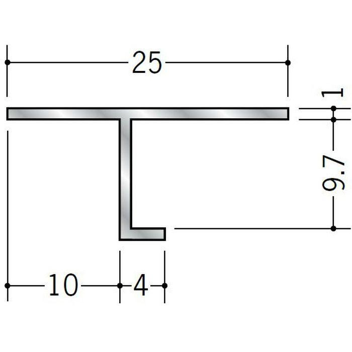 目透かし型見切縁 アルミ ATV-9 シルバー 3m  50061