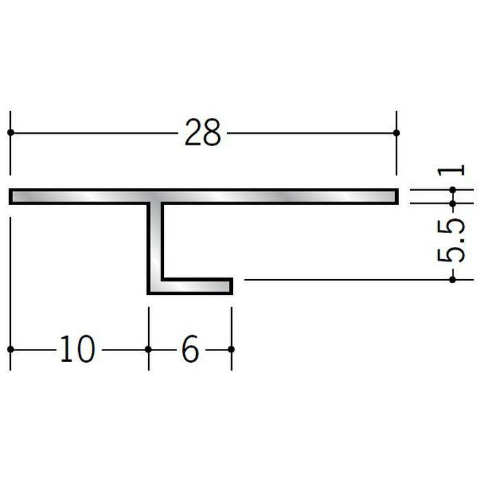 目透かし型見切縁 アルミ ATS-5 シルバー 3m  50222