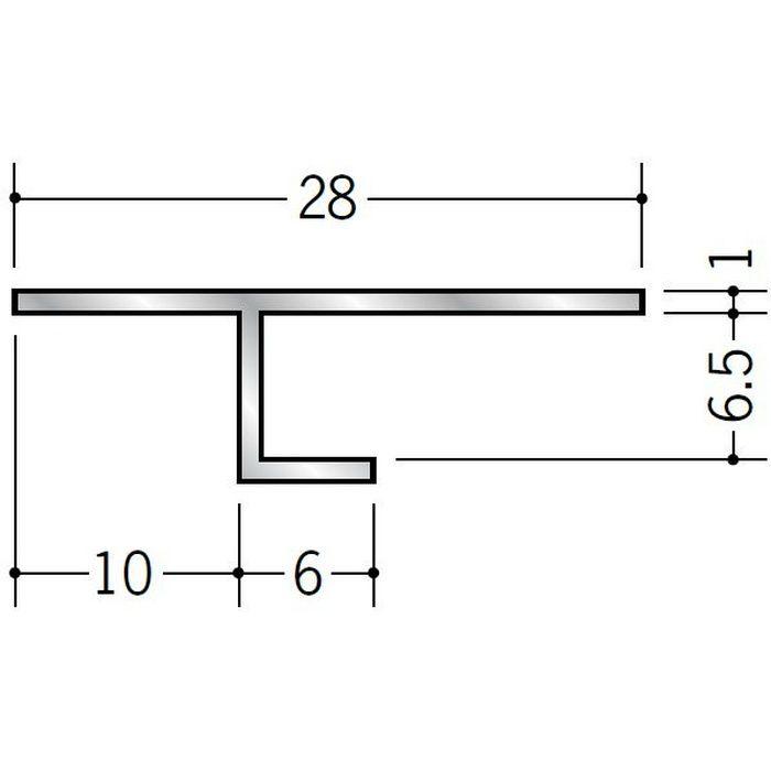目透かし型見切縁 アルミ ATS-6 シルバー 3m  50223