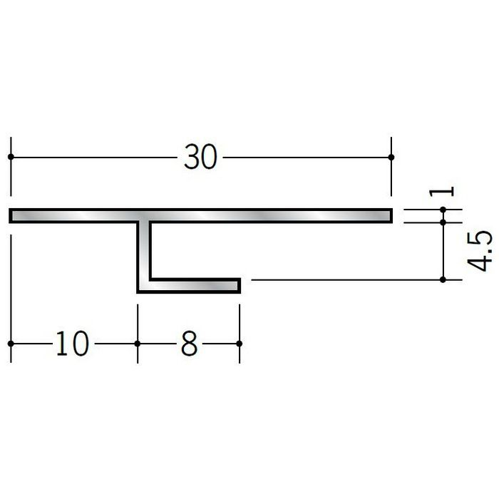 目透かし型見切縁 アルミ ATE-4 シルバー 3m  50053