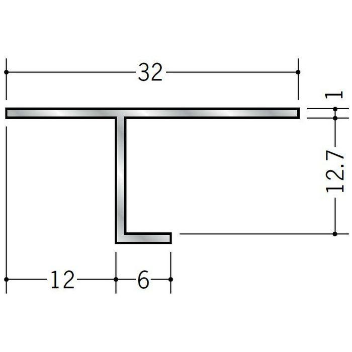 目透かし型見切縁 アルミ ART-12 シルバー 3m  50008