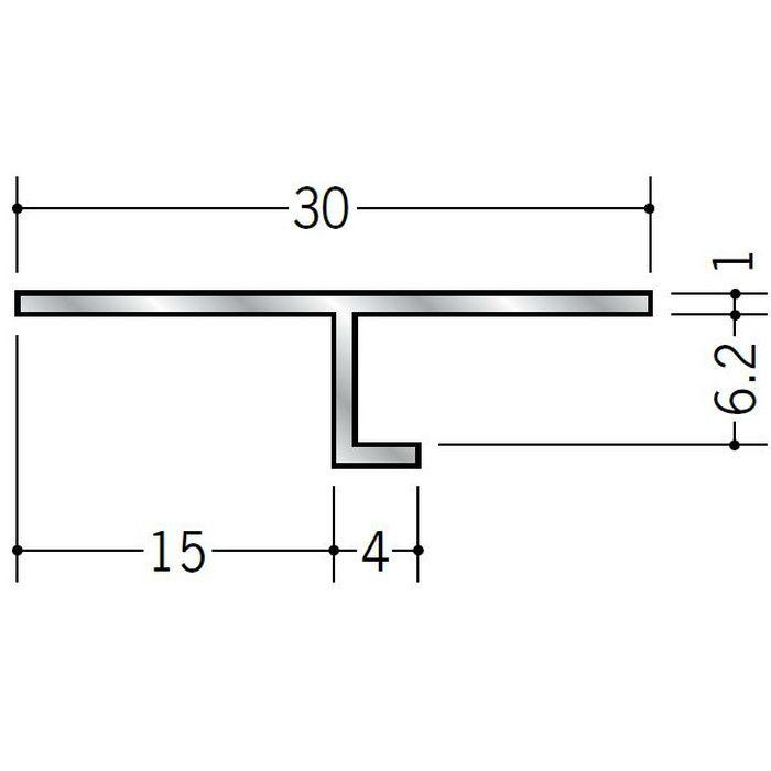 目透かし型見切縁 アルミ ATV-1506 シルバー 3m  50056