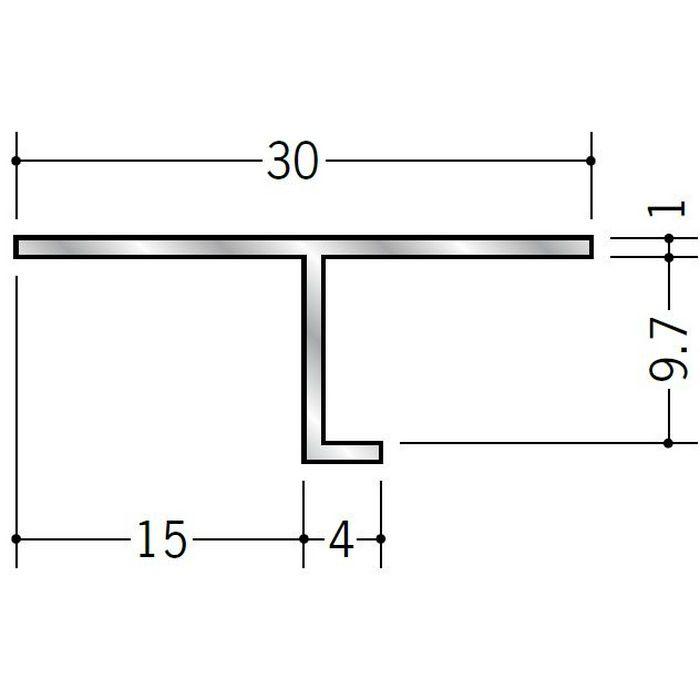 目透かし型見切縁 アルミ ATV-1509 シルバー 3m  50057