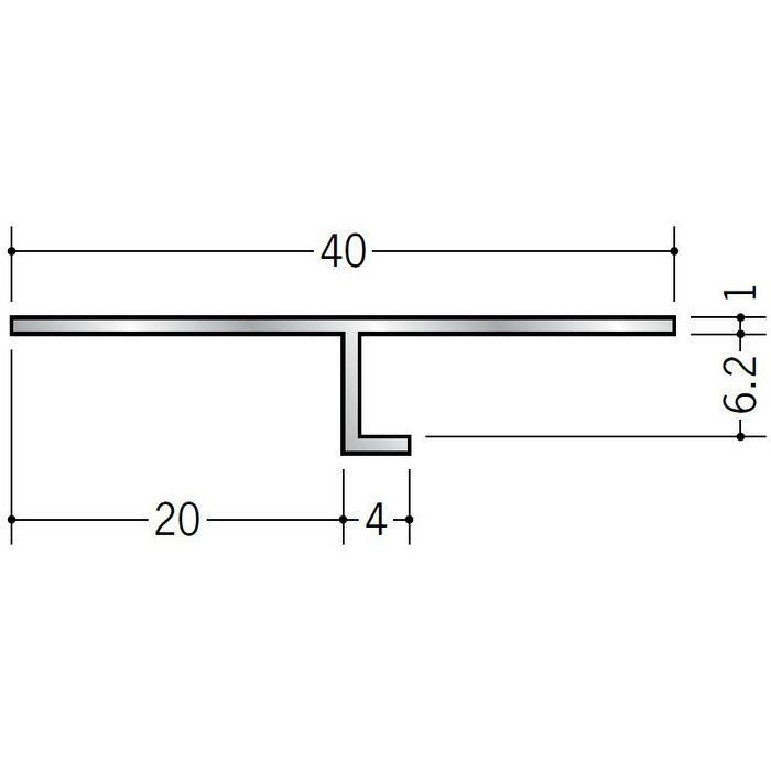目透かし型見切縁 アルミ ATV-2006 シルバー 3m  50215