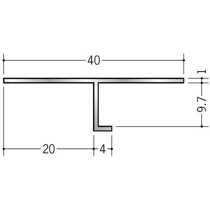 目透かし型見切縁 アルミ ATV-2009 シルバー 3m  50217