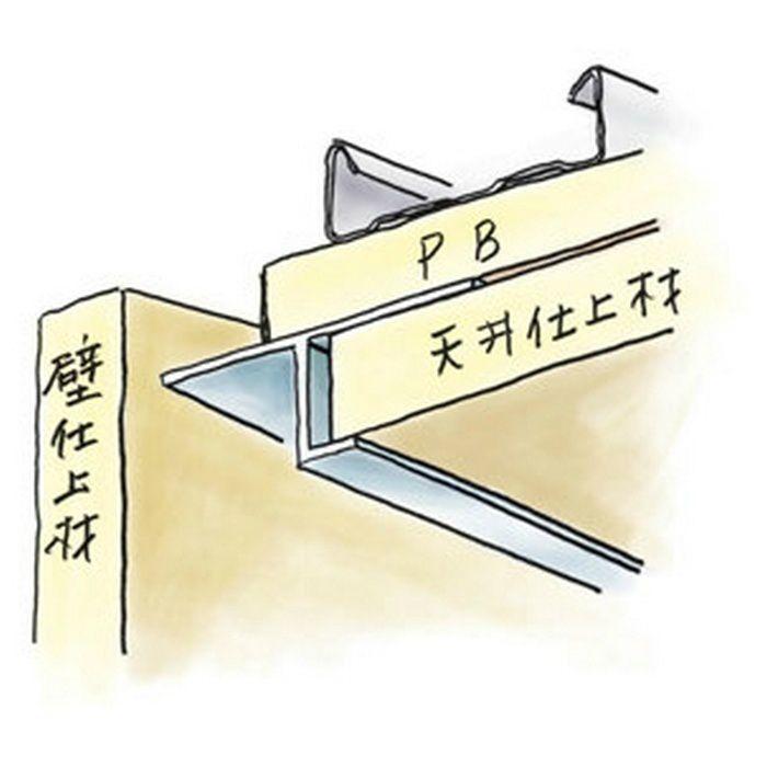 目透かし型見切縁 アルミ ATV-2012 シルバー 3m  50218