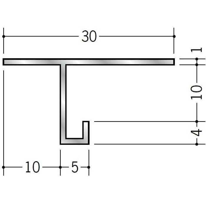 目透かし型見切縁 アルミ AM-9 シルバー 3m  51059