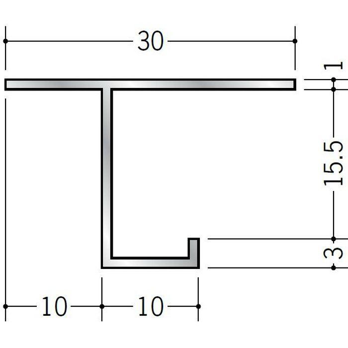 目透かし型見切縁 アルミ CS-1015 シルバー 3m  52256