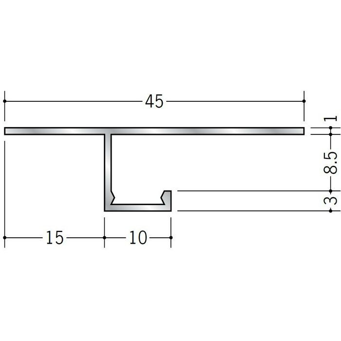 目透かし型見切縁 アルミ CL-8 シルバー 3m  51082