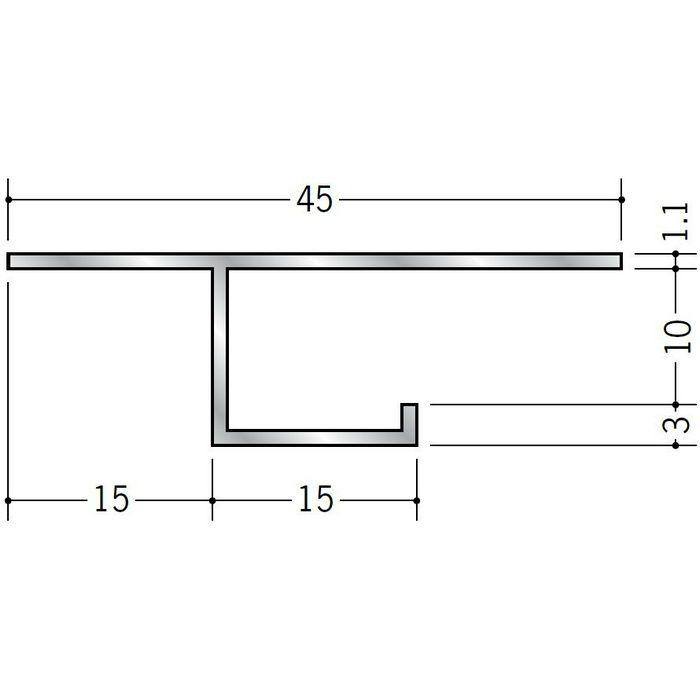 目透かし型見切縁 アルミ B型10 シルバー 3m  51054
