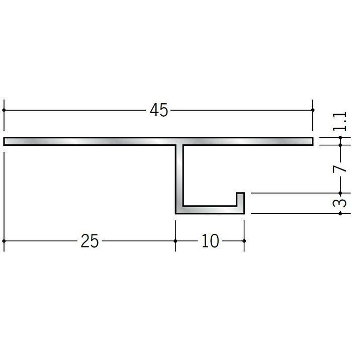 目透かし型見切縁 アルミ VF-7 シルバー 3m  51067