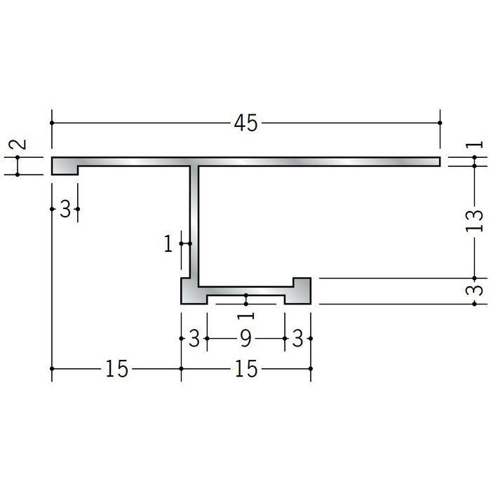目透かし型見切縁 アルミ STB-1512 シルバー 3m  52299
