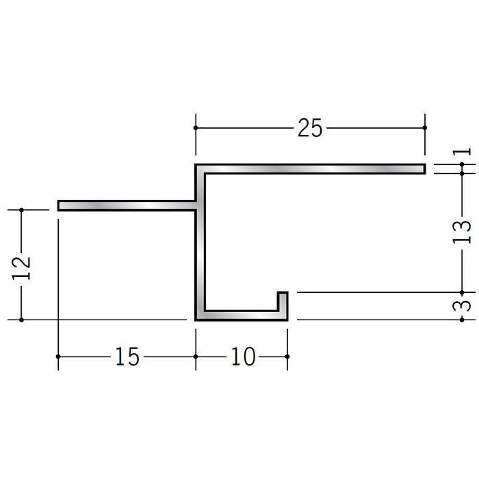 目透かし型見切縁 アルミ BMV-13 シルバー 3m  50254