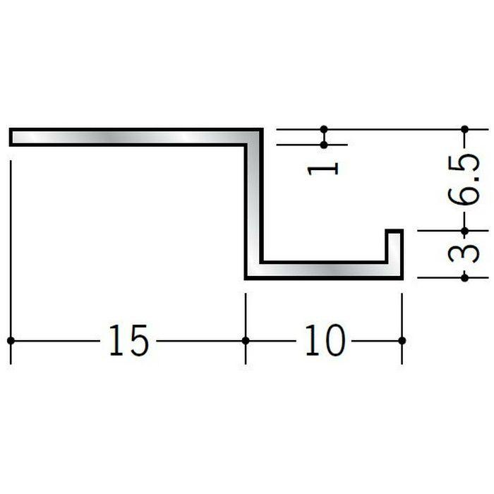 目透かし型見切縁 アルミ BZ-6.5 シルバー 3m  58105