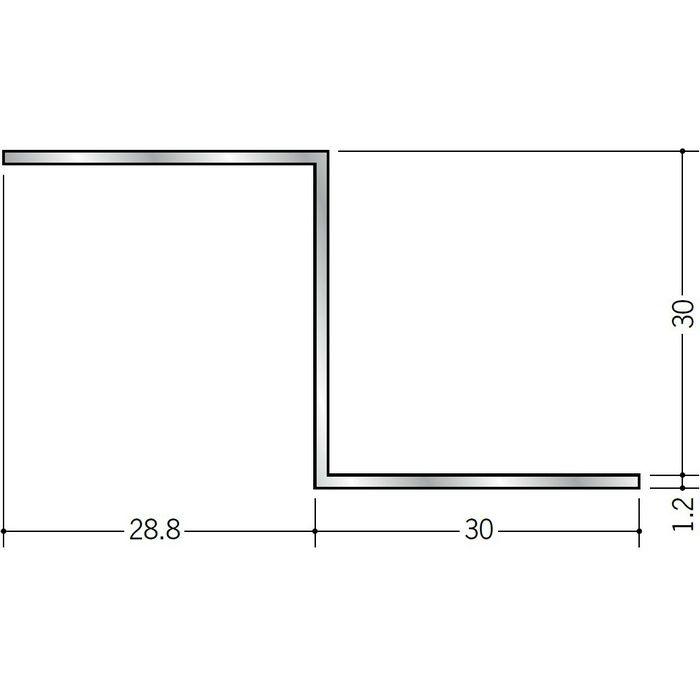 目透かし型見切縁 アルミ Zバー30Z シルバー 3m  58102