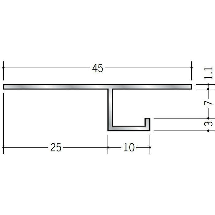 換気見切 アルミ VFC-7(開口率15.07%) シルバー 3m  51061
