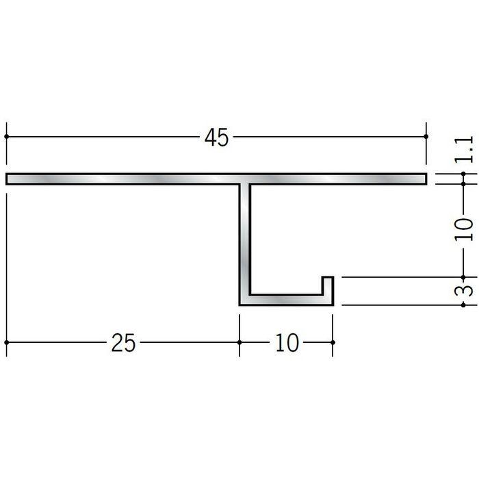 換気見切 アルミ VFC-10(開口率15.07%) シルバー 3m  51063