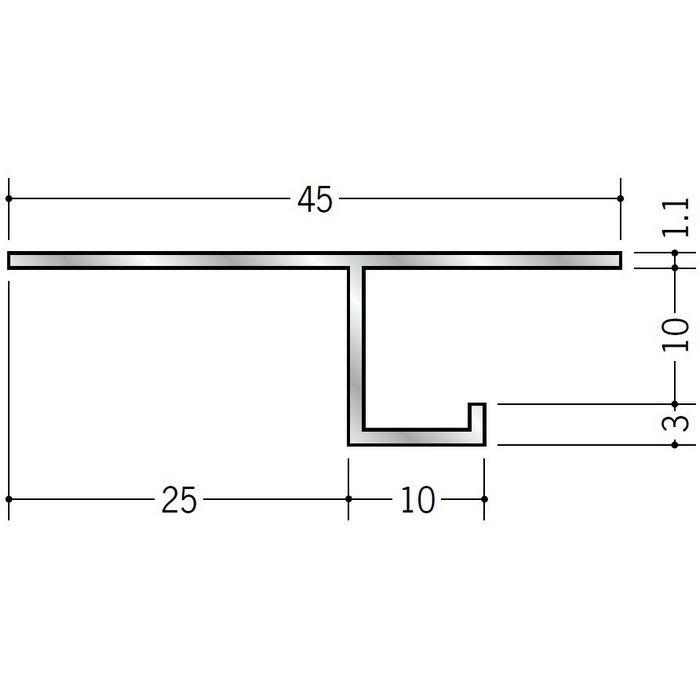 換気見切 アルミ VFT-10(開口率22.03%) シルバー 3m  51064