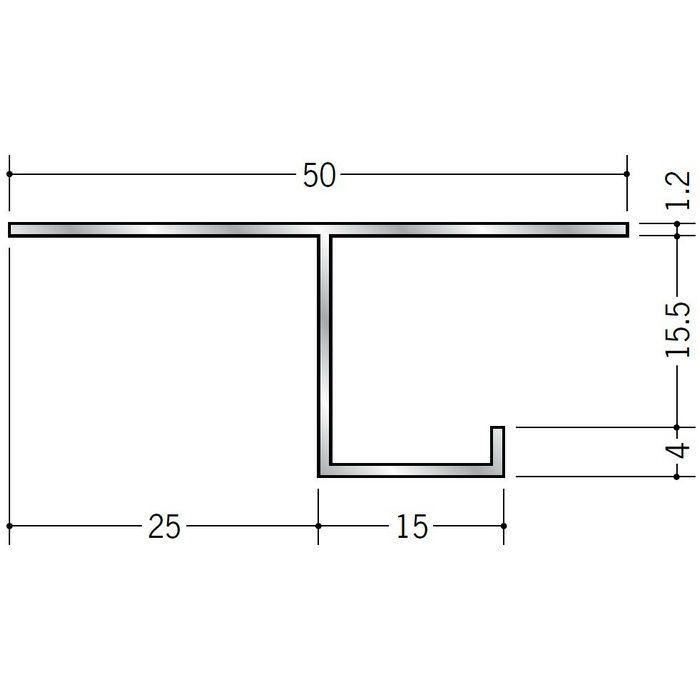 換気見切 アルミ VFT-15(開口率22.03%) シルバー 3m  51091