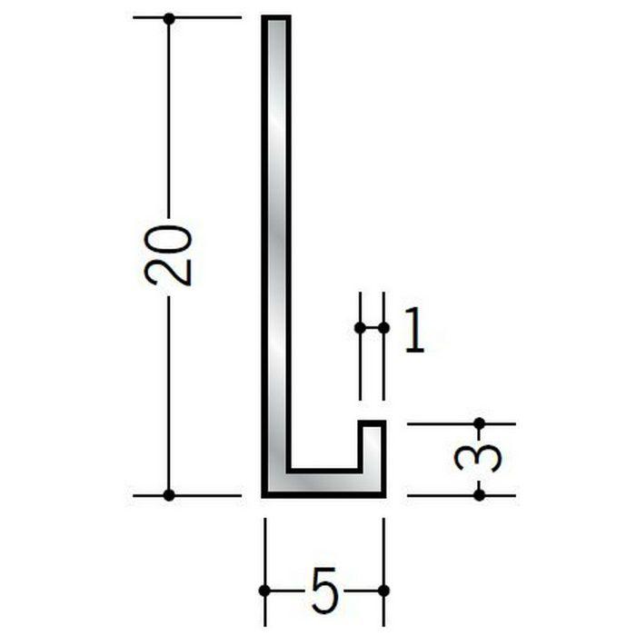 壁付け型見切縁 アルミ C型-5 シルバー 3m  52132