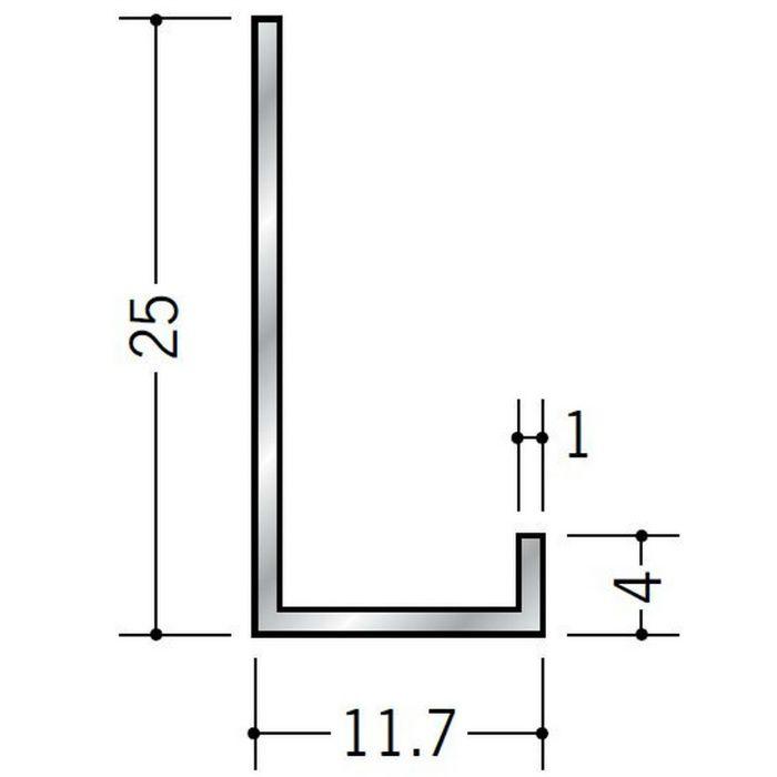 壁付け型見切縁 アルミ ATC-10 シルバー 3m  50032