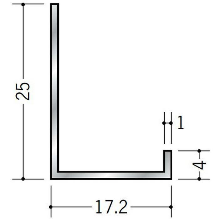 壁付け型見切縁 アルミ ATC-15 シルバー 3m  50034