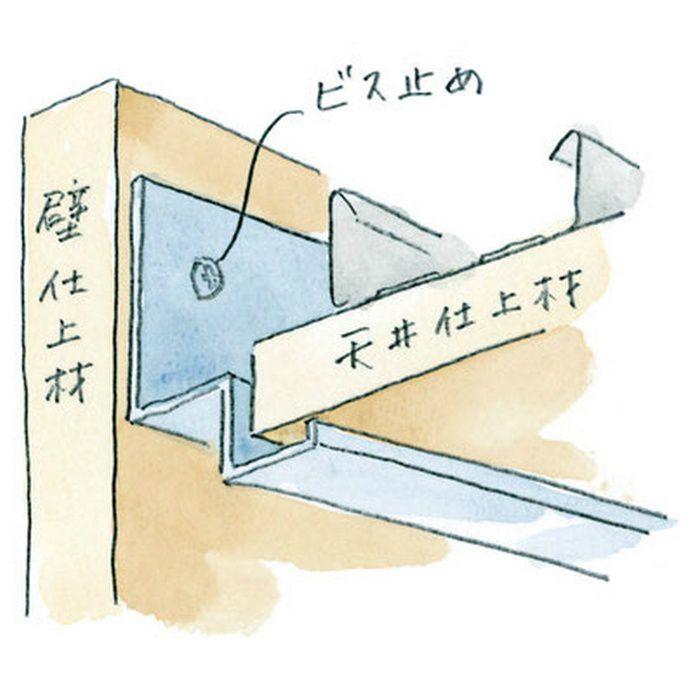 壁付け型見切縁 アルミ FL-15 シルバー 3m  52043