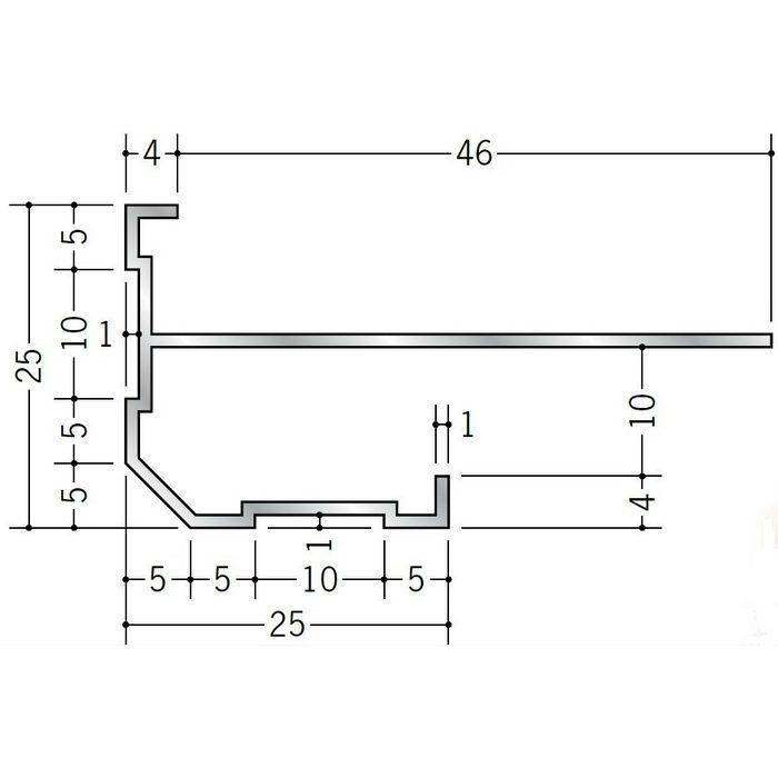 下がり壁用見切縁 アルミ DTL-9 シルバー 3m  52285
