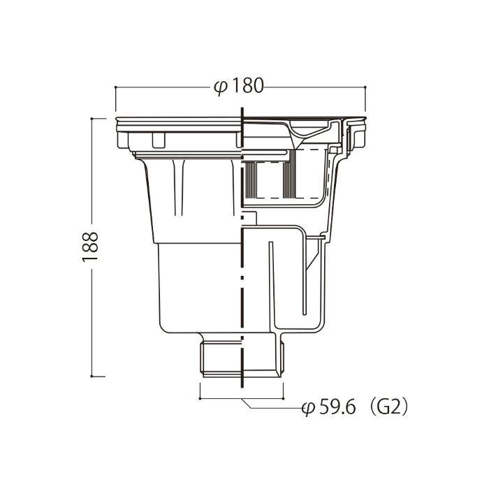 大型ゴミ収納器(浅型) 【流し台用部品】  【地域限定】