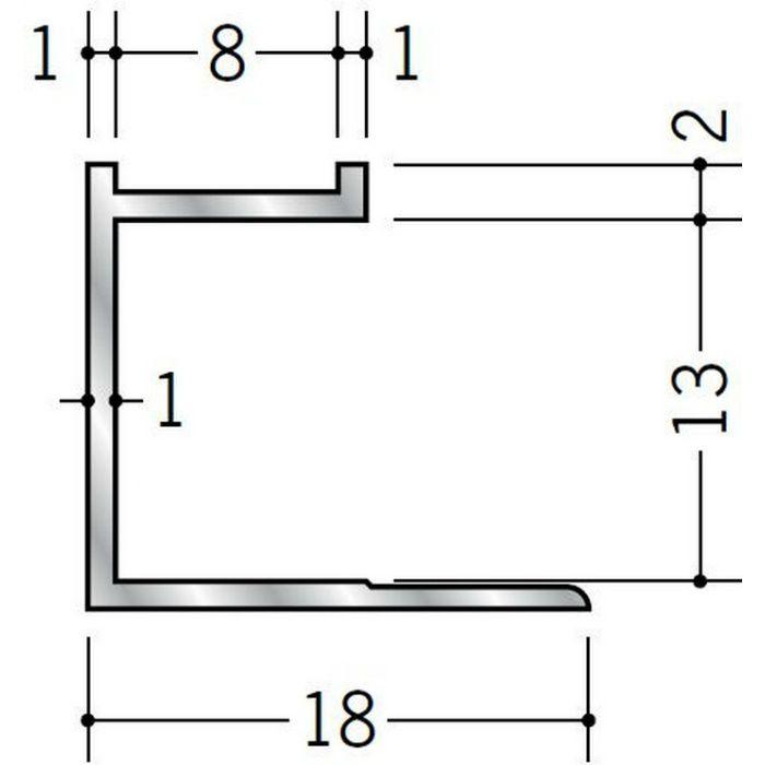 コ型ジョイナー アルミ mCS-13 シルバー 2.73m  55318