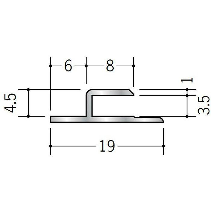 目透かしジョイナー アルミ CJ300 シルバー 2.73m  55070