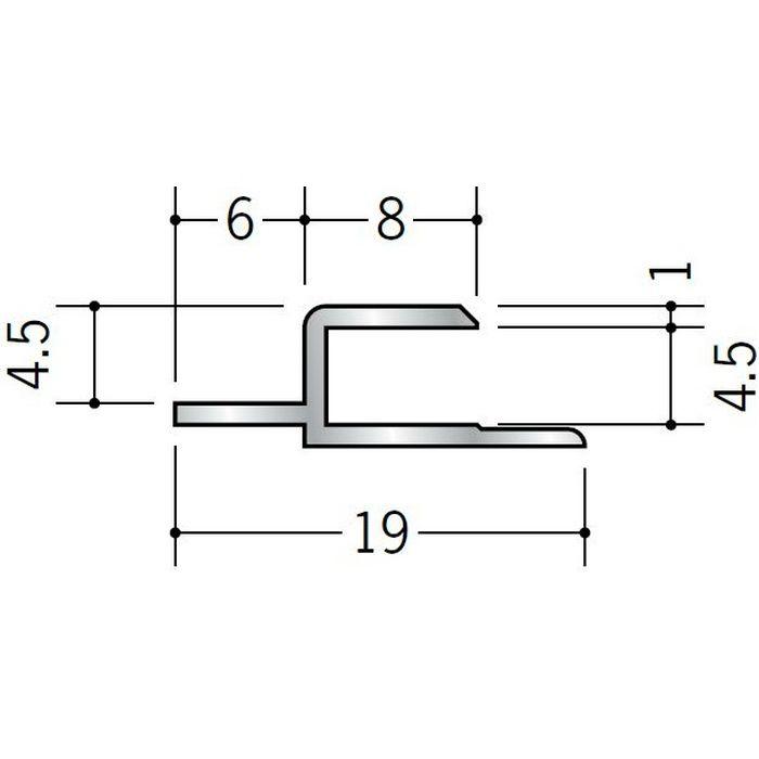 目透かしジョイナー アルミ CJ400 シルバー 2.73m  55071