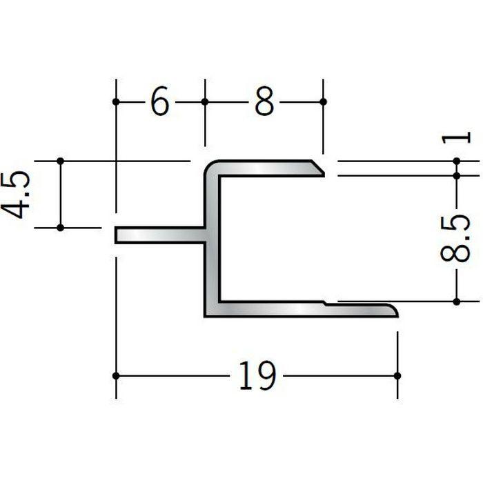目透かしジョイナー アルミ CJ800 シルバー 2.73m  55074