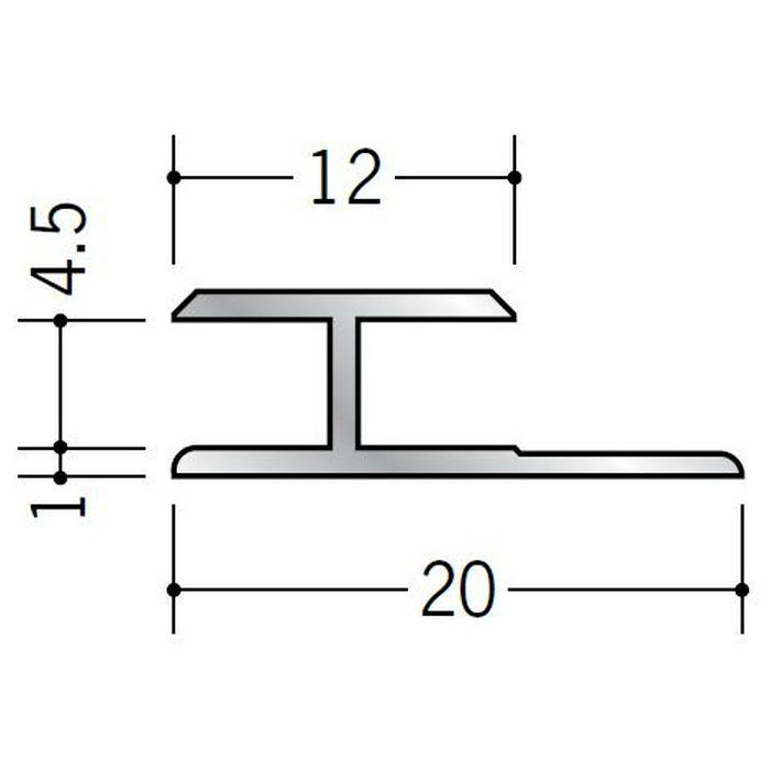 H型ジョイナー アルミ 4.5HS シルバー 1.82m  54054-1