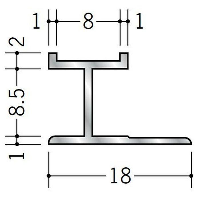 H型ジョイナー アルミ mHS-8.5 シルバー 2.73m  55306