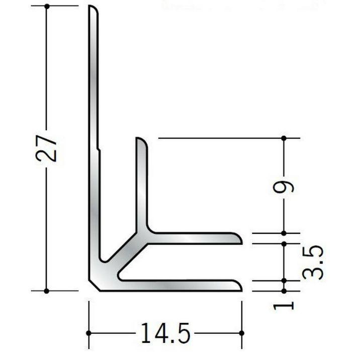 入隅ジョイナー アルミ BF-3.5 シルバー 3m  55033-2