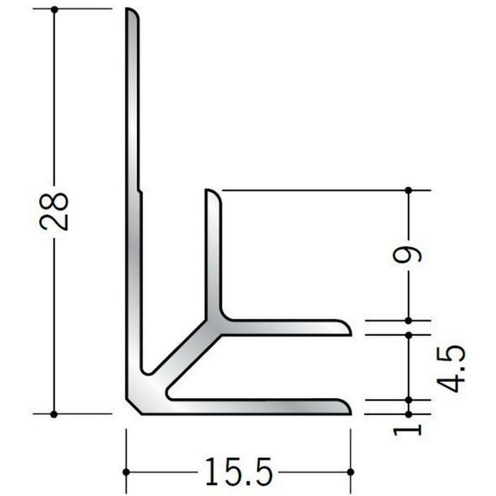 入隅ジョイナー アルミ BF-4.5 シルバー 2.73m  55034