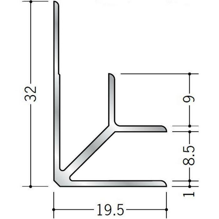 入隅ジョイナー アルミ BF-8.5 シルバー 3m  55038-2