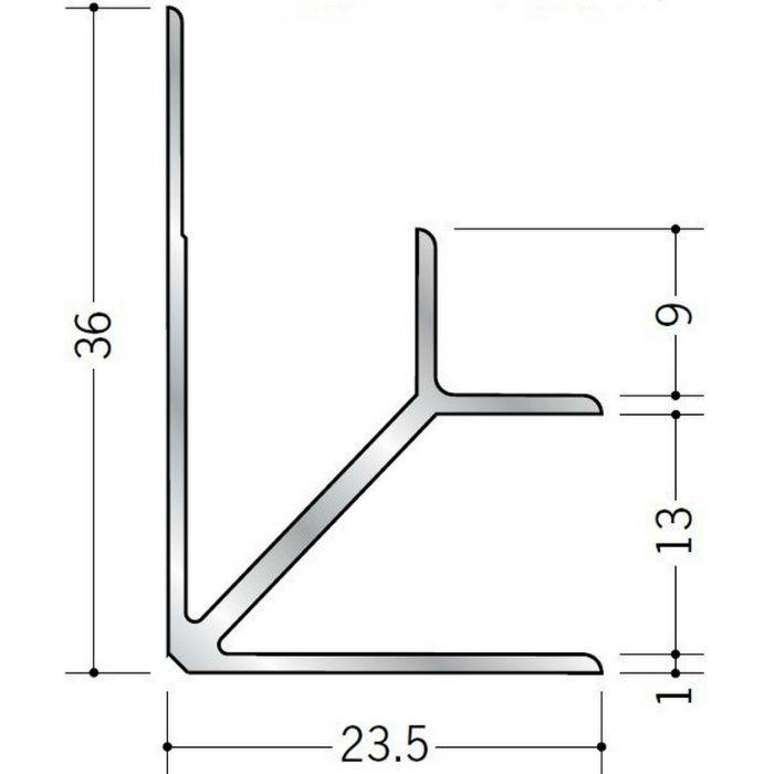 入隅ジョイナー アルミ BF-12.5 シルバー 2.73m  55042-1