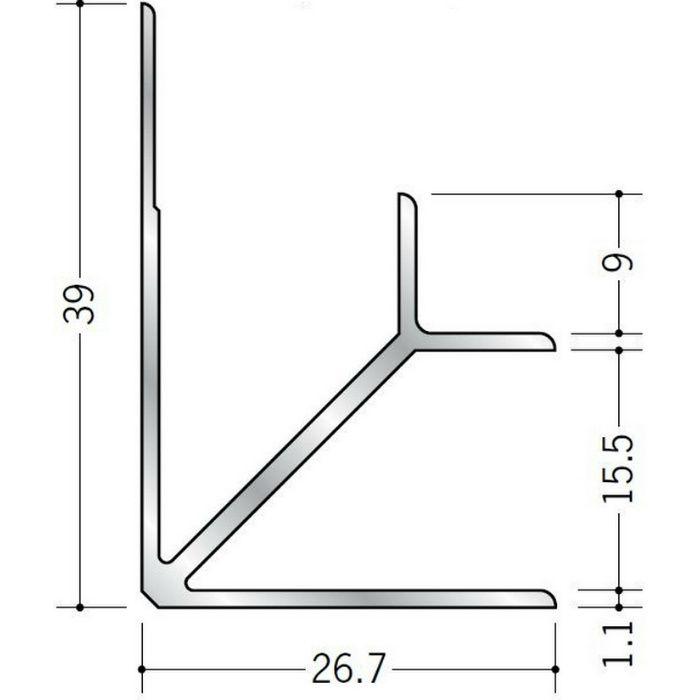 入隅ジョイナー アルミ BF-15.5 シルバー 2.73m  55030-1
