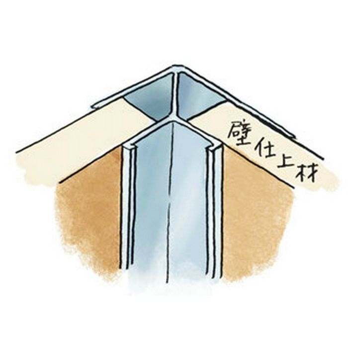 入隅ジョイナー アルミ mBF-8.5 シルバー 2.73m  55336