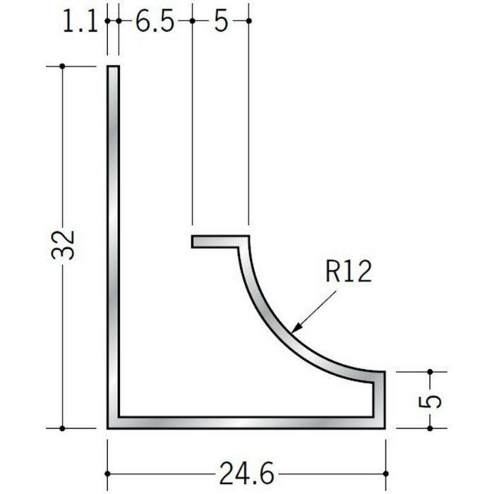 入隅ジョイナー アルミ RSB-6.5 シルバー 3m  52023