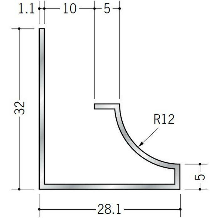 入隅ジョイナー アルミ RSB-9.5 シルバー 3m  52024