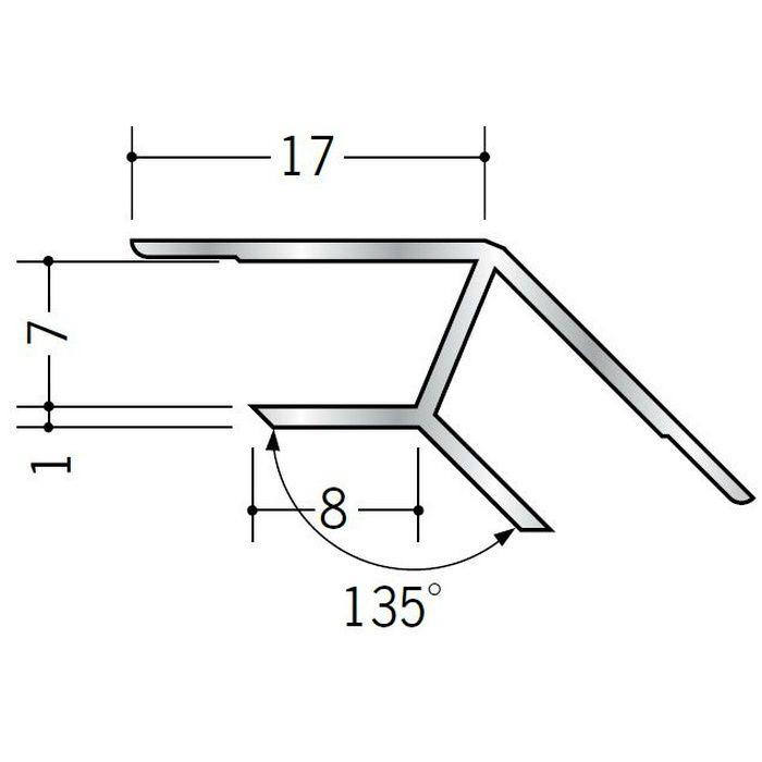 角度付ジョイナー 入隅 アルミ B135-6.5 シルバー 2.73m  52062