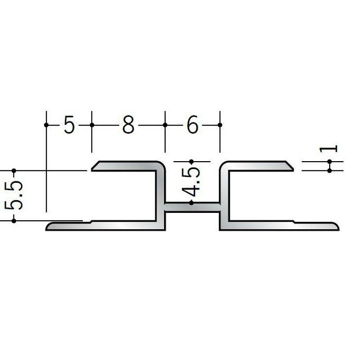 ハット型ジョイナー アルミ 500mH シルバー 2.73m  55082