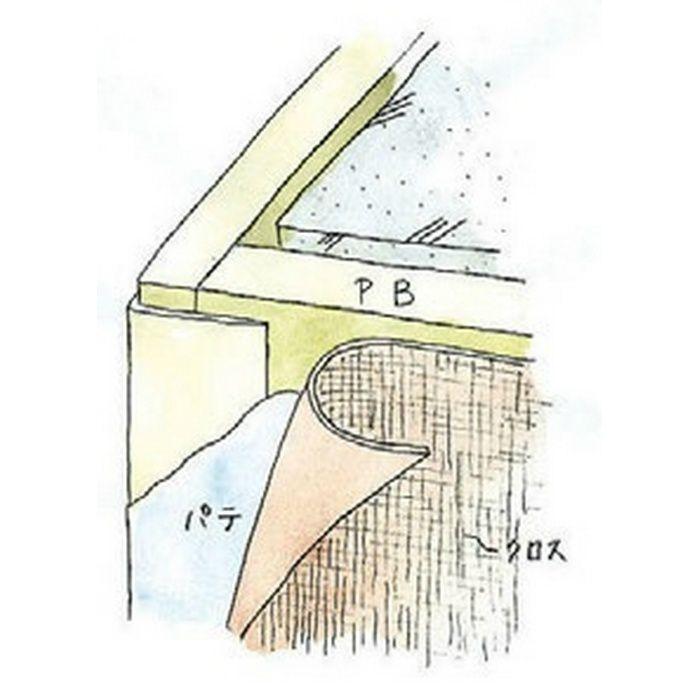 ペンキ・クロス下地材 出隅 ビニール L型コーナー35テープ付 ミルキー 3m  01023-2