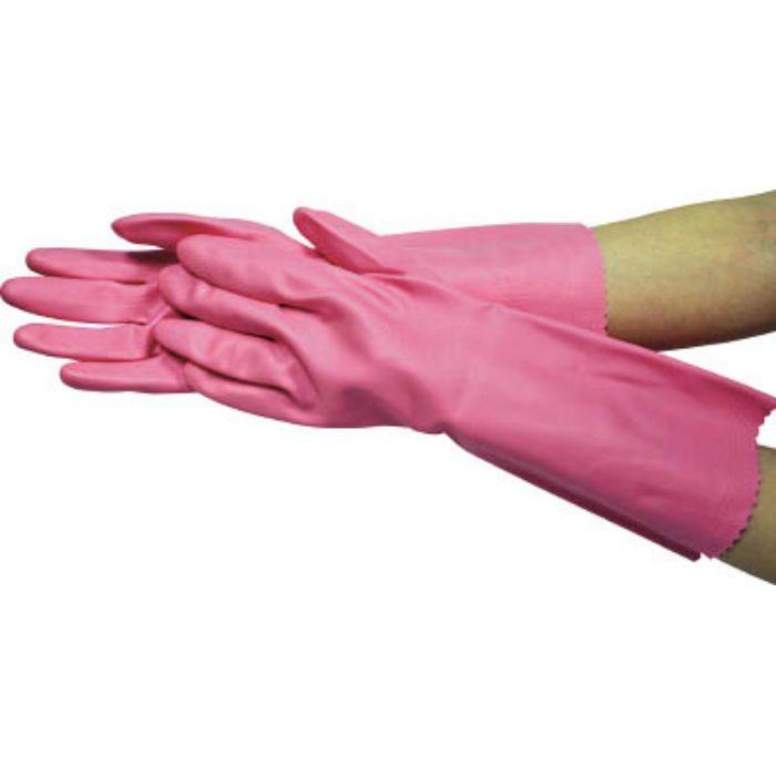 6351 ビニール厚手 裏毛付 M ピンク